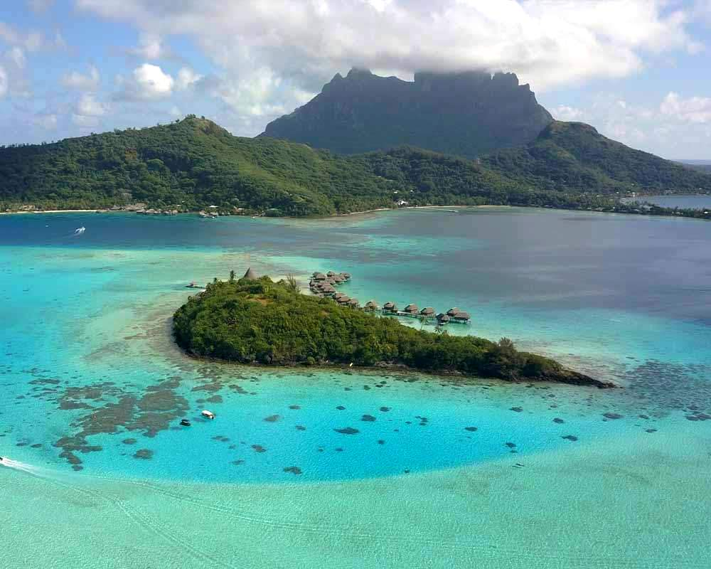Bora Bora snorkeling map lagoon tour aquarium site